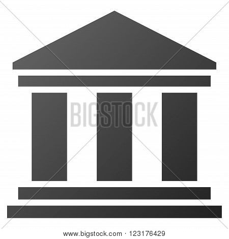 Museum Building vector toolbar icon for software design. Style is gradient icon symbol on a white background.