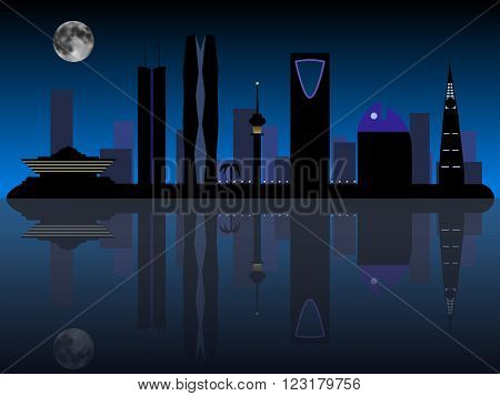 Riyadh Saudi Arabia skyline silhouette vector illustration