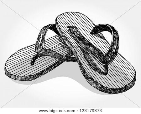 Hand drawn Summer Sandals