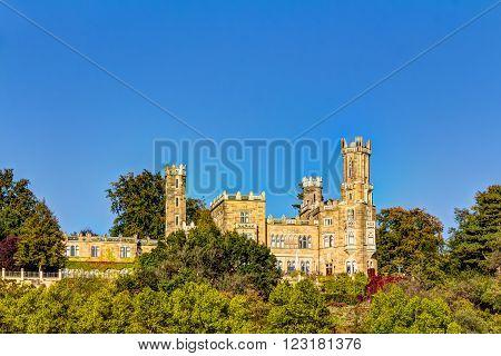Eckberg Castle in Dresden a part from the three Elbe river hillside castles