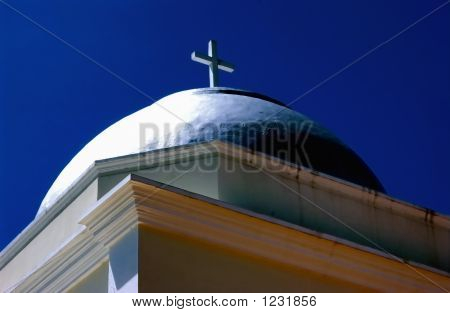 Architectural Details Of A Church In Puerto Rico, Usa.
