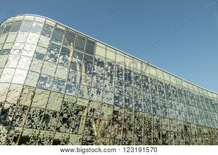 NETHERLANDS - ALPHEN AAN DEN RIJN - MEDIO MARCH 2016: Detail of the Town hall in Alphen.