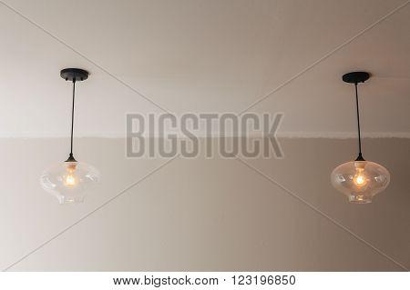 Ceiling light fixture  indoor simple background modern