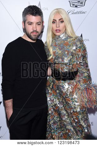 LOS ANGELES - MAR 20:  Brandon Maxwell & Lady Gaga arrives to the 2nd Annual Fashion Los Angeles Awards  on March 20, 2016 in Hollywood, CA.