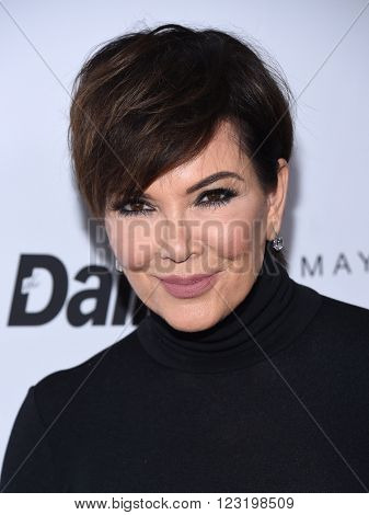 LOS ANGELES - MAR 20:  Kris Jenner arrives to the 2nd Annual Fashion Los Angeles Awards  on March 20, 2016 in Hollywood, CA.