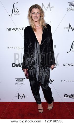 LOS ANGELES - MAR 20:  Angela Lindvall arrives to the 2nd Annual Fashion Los Angeles Awards  on March 20, 2016 in Hollywood, CA.