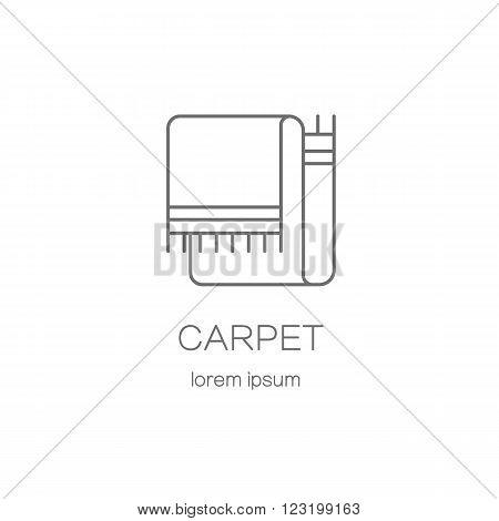 Carpeting shop DIY line icon logotype design templates. Modern easy to edit logo template. Vector logo design series.