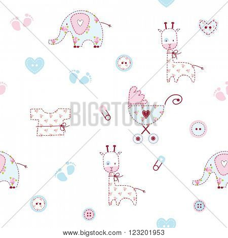 Cute baby shower pattern