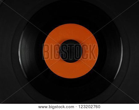 Vinyl On A Phonograph Rubber Platter Mat