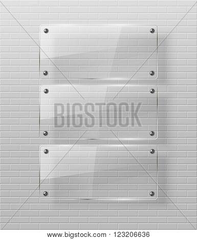 Glass framework Vector illustration. Eps10