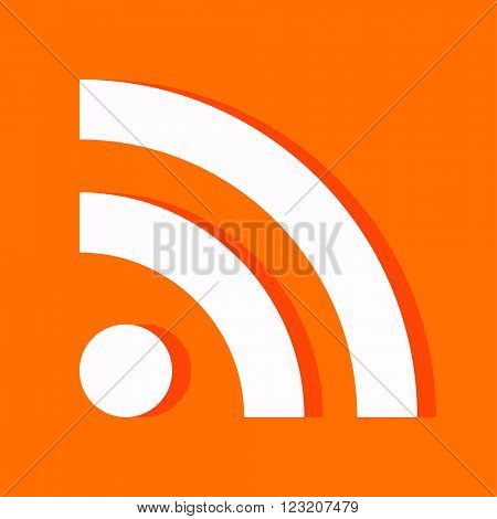 Flat RSS icon for web design