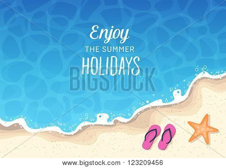 Summer holidays background - sun, sea, travel, relaxation, fun.