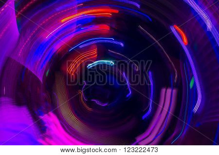 Bright abstrackt background of purple and red round lines