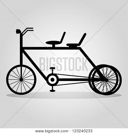 monochrome bike with a shadow on a light background abstract symbol vector illustration abstract high quality