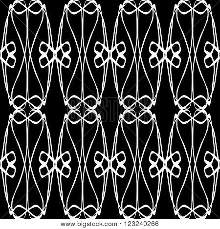 monochrome vintage seamless pattern on a black background vector illustration abstract high quality