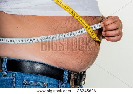 man with overweight