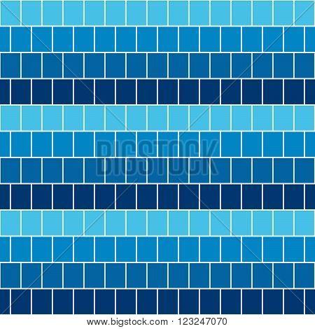 geometric  square  blue seamless pattern sea or ocean. vector