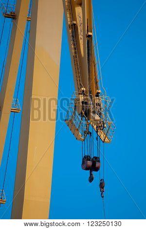Detail of a crane of the dockyards of Cadiz