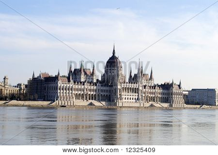 The Parliament in Budapest.