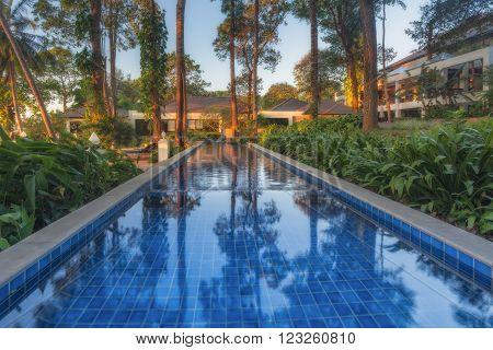Thailand, Ko Chang - DEC 11: Thailand Chang Buri Resort hotel pool villas on December 11, 2011 in  Ko Chang,
