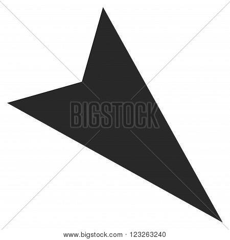 Arrowhead Right-Down vector icon. Arrowhead Right-Down icon symbol. Arrowhead Right-Down icon image. Arrowhead Right-Down icon picture. Arrowhead Right-Down pictogram.