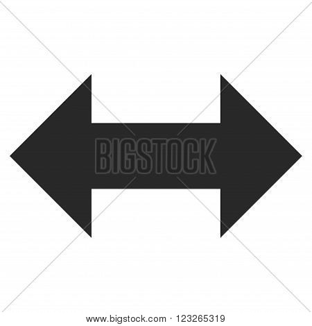 Horizontal Exchange Arrows vector icon. Horizontal Exchange Arrows icon symbol. Horizontal Exchange Arrows icon image. Horizontal Exchange Arrows icon picture. Horizontal Exchange Arrows pictogram.
