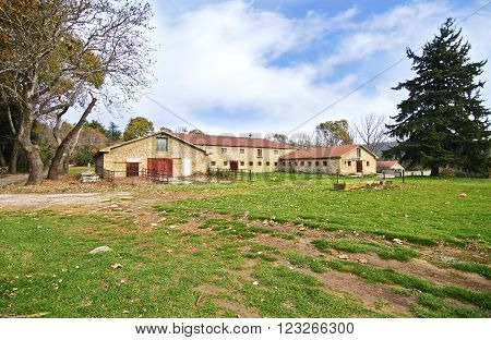 abandoned house of Tatoi Palace, the place where stayed the former greek Royal family