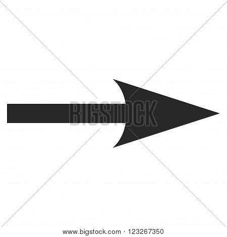 Sharp Arrow Right vector icon. Sharp Arrow Right icon symbol. Sharp Arrow Right icon image. Sharp Arrow Right icon picture. Sharp Arrow Right pictogram. Flat gray sharp arrow right icon.