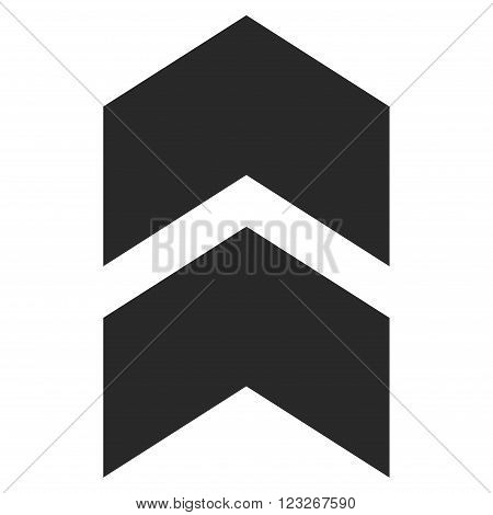 Shift Up vector icon. Shift Up icon symbol. Shift Up icon image. Shift Up icon picture. Shift Up pictogram. Flat gray shift up icon. Isolated shift up icon graphic. Shift Up icon illustration.