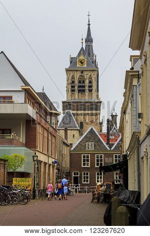 Delft, Netherlandes - May 8: This is one of the smaller area behind the town hall May 8, 2013 in Delft, Netherlands.