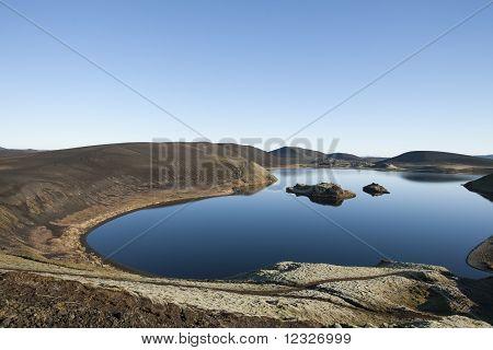 Nejkrásnější jezero na Islandu