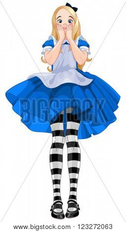 Illustration of Alice from Wonderland