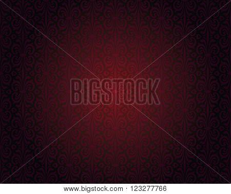 Dark red repeatable gradient vector background pattern