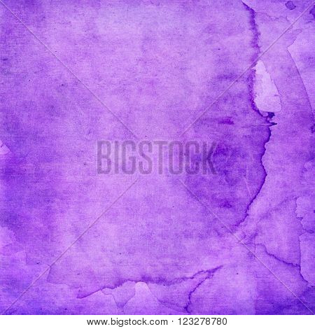 Purple water stained digital background paper texture.