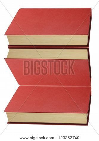 Hard Cover Book on Isolated White Background