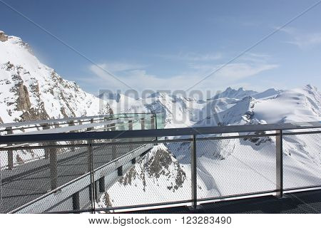 Observation platform on the Kaprun Austria. Travel.
