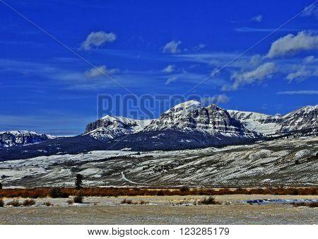 Sublette Peak In The Absaroka Mountain Range On Togwotee Pass
