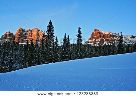 Breccia Cliffs and Sublette Peak on Togwotee Pass between Jackson Hole and Dubois Wyoming USA