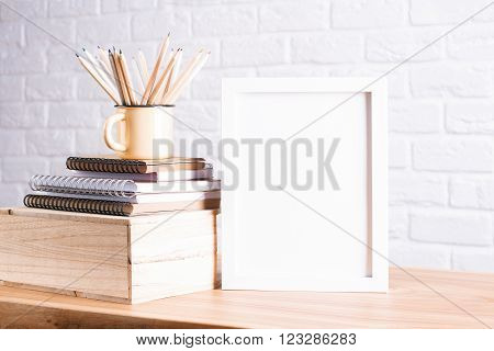 Pencils And White Frame