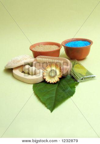 Green Herbal Spa Still Life