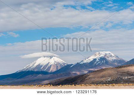 Volcano. Nature of Altiplano, Bolivia, South America.