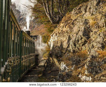 End of World Train (Tren fin del Mundo) Tierra del Fuego National Park Patagonia Argentina