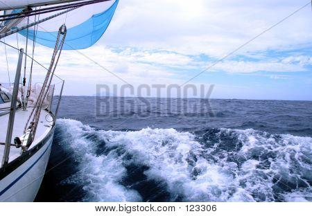 Sailing In Atlantic Ocean
