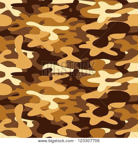 Military camouflage for disguise in the desert seamless pattern