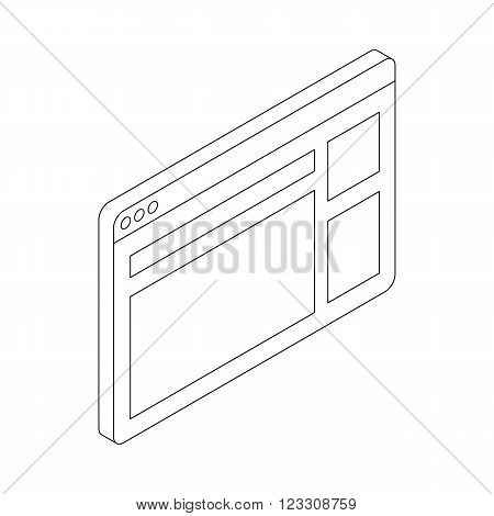 Website icon in isometric 3d style isolated on white background