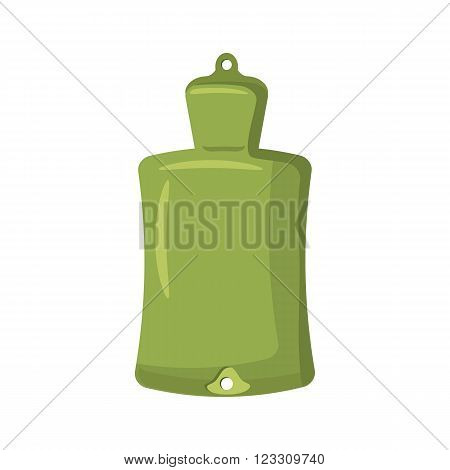 Green rubber warmer icon in cartoon style on a white background