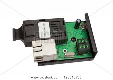 Uncovered Mini Fiber Optic Media Converter