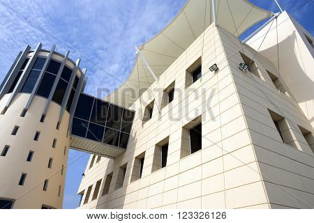 Central Desertic Area, Bahrain - December 10 2006: Iinternational motorsport circuit the Race Contol Building.