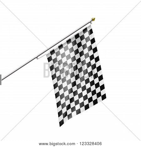 Checkered Flag isolated on white background. Stock vector illustration.