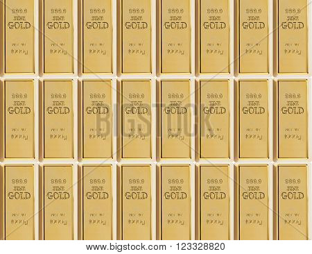 background from a sample of 999 gold bars